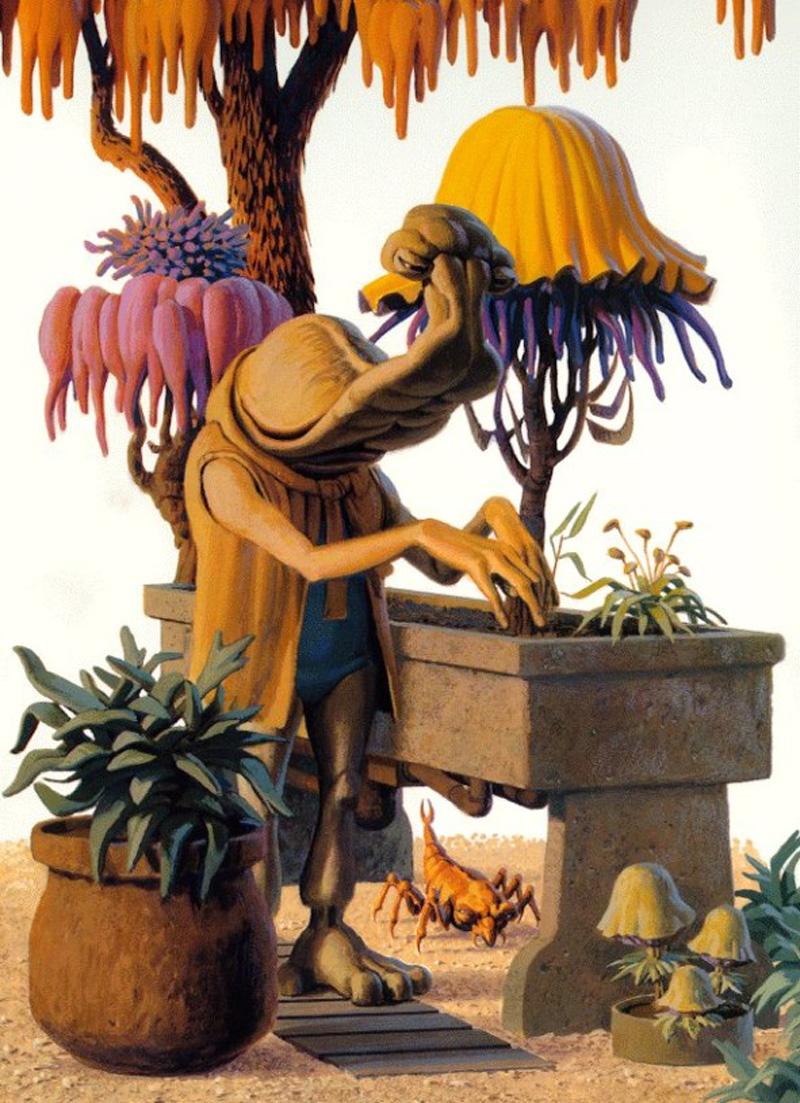 Ralph McQuarrie - Momaw Nadon (Bafforr Trees)