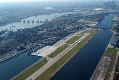 Aerial shot of London City Airport (1)