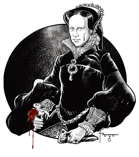 queen bloody mary coloring pages - photo#41