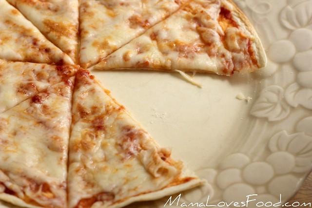 Thin and Crispy Tortilla Pizza
