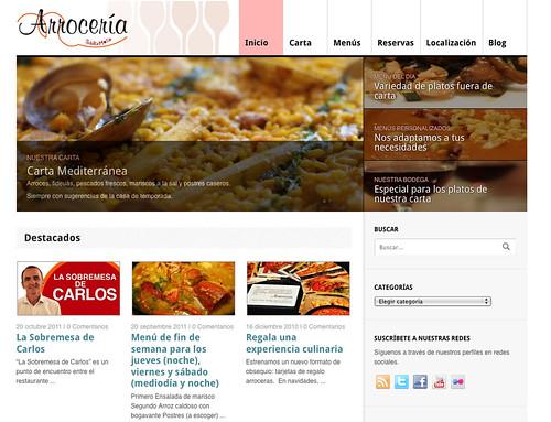 Web de Arroceria Sobremesa