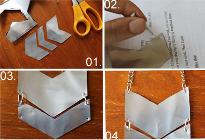 How to DI(fr)Yday: How to make a soda can chevron necklace