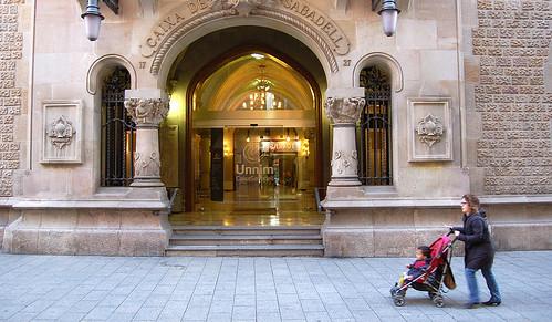 La seu central de l'antiga Caixa Sabadell, fa uns dies.
