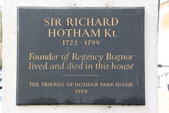 Photo of Richard Hotham stone plaque