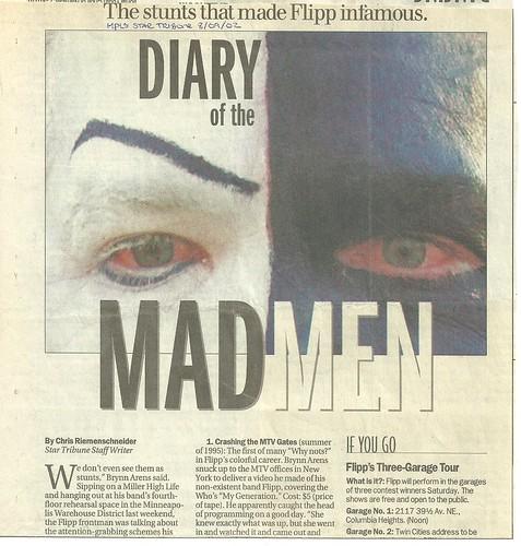 08/09/02 Minneapolis Star Tribune (Flipp - 3 Garage Tour - top half)