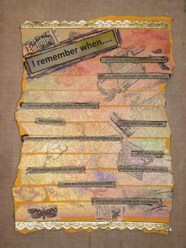 Art Journal #8 - Stamped Masking Tape 012