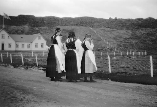 Women at Thingvellir, Iceland