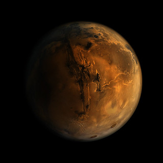 Mars planet 2 (Nasa image enhanced) by J. Gabás Esteban