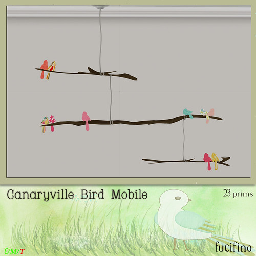fucifino.canaryville bird mobile for Project Themeory