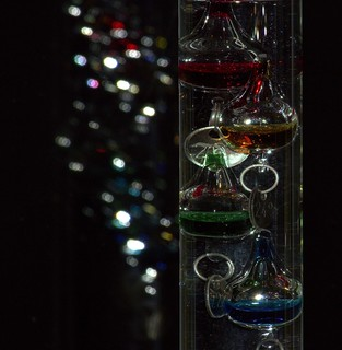 Galileo Thermometer Bokeh