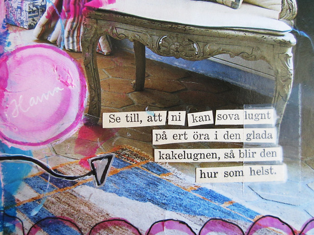 Art Journal with Cut out poetry
