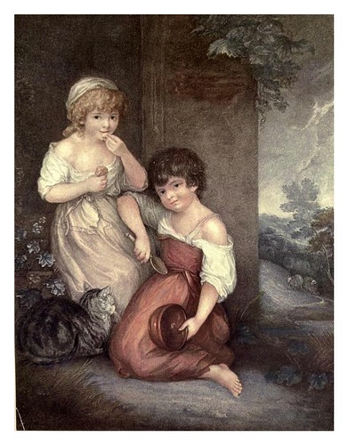005-Hobbinol y Ganderetta 1790-Gainsborough-Old English colour prints 1909-Charles Holme