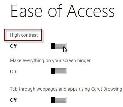 Windows 8 প্রিভিউ -এ যোগ করুন হাই কনটেষ্ট নিউ লুক