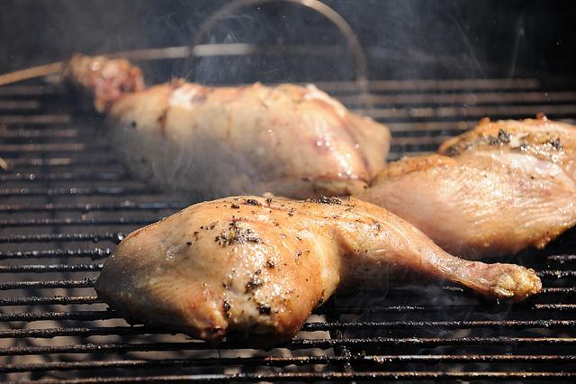 Broileria grillissä