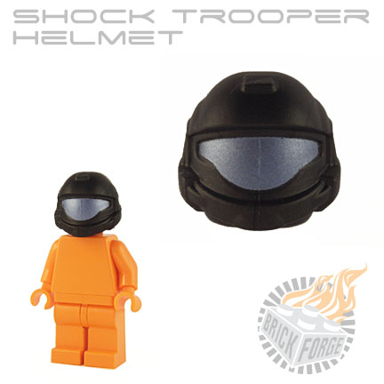 Shock Trooper Helmet - Black (cobalt visor print)
