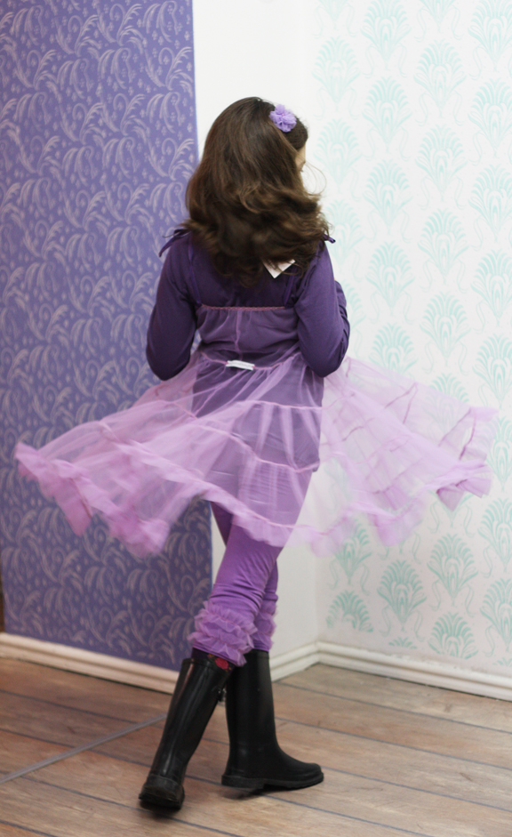 lilac tulle twirl dress