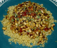 Chipotle-Bacon Black-Eyed Peas over Quinoa