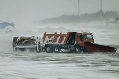 snow(0.0), winter storm(0.0), vehicle(1.0), snowplow(1.0), blizzard(1.0),