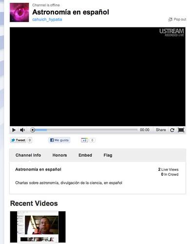 Canal Ustream Astronomía en Español