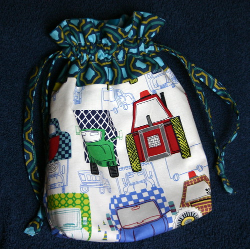 Drawstring Bag for a Sweet Boy by myfullcolorlife - Vickie