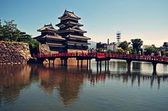 [フリー画像素材] 建築物・町並み, 宮殿・城, 松本城, 風景 - 日本 ID:201202240600