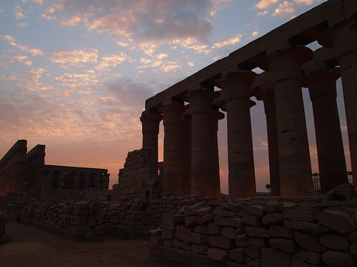 Sunset Over Luxor Temple
