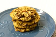 Chocolate pecan skor cookies