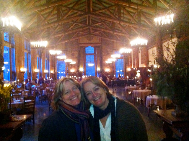 Dinner at the Ahwahnee Hotel