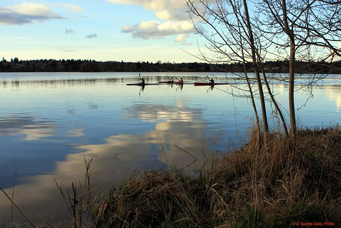 Skywatch Friday:  Lake Reflection by Seattle Daily Photo