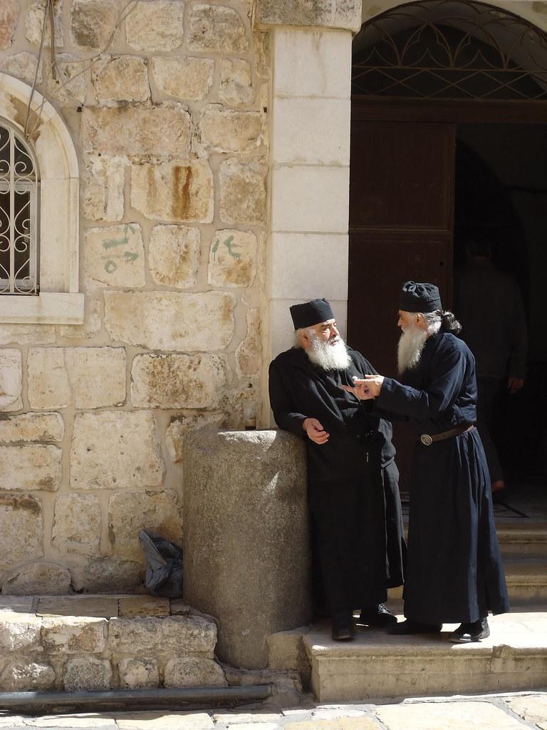 Christliche Mönche in Jerusalem