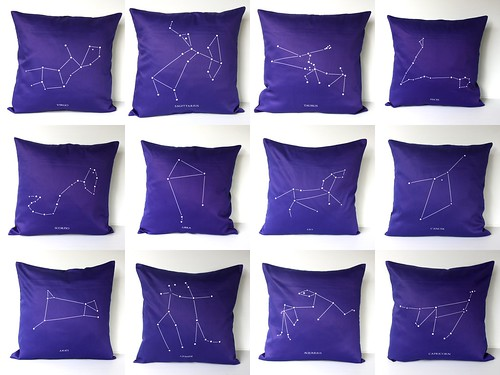 Zodiac Pillows by cath @ chunkychooky