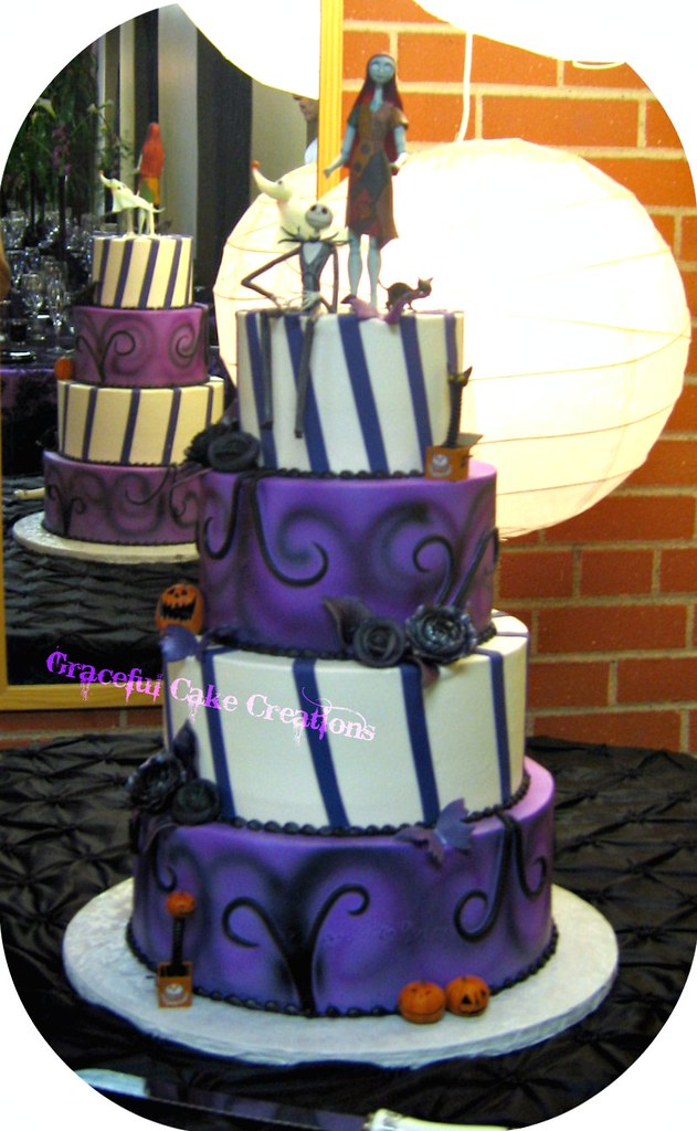 jack sally nightmare before christmas wedding cake topper nightmare before wedding cake a photo on 16562