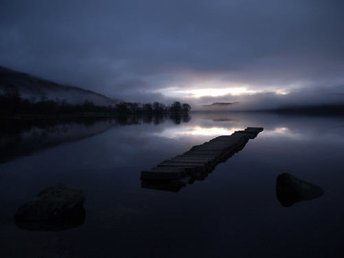 winter water sunrise dark landscape lumix dawn scotland jetty explore loch trossachs lochard coastuk panasonicgf1 welcomeuk