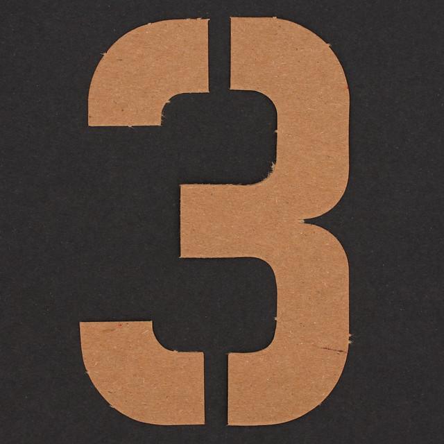 Stencil Number 3 | Flickr - Photo Sharing!