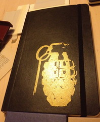 Screen Printed Gold Grenade Moleskine