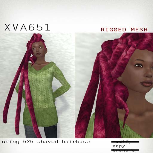 booN XVA651 hair RIGGED MESH