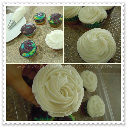 Duyando los cupcakes