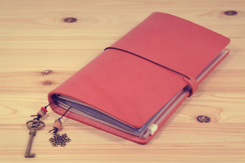 Tanzo's Carnet notebook cover - Peach