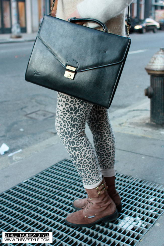 girlfur2 fur, leopard print, head wrap, street fashion style, nyc, new york