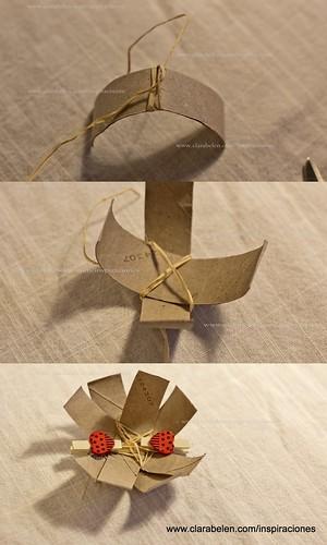 Manualidades: sencillo adorno con rollo de papel