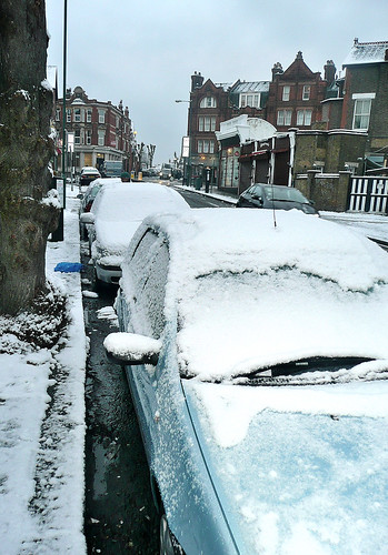 Willesden Green - Snowed Cars