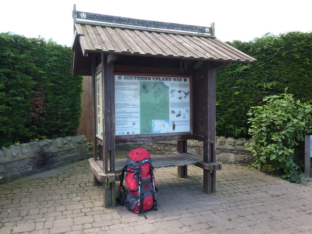 The rucksack takes a rest