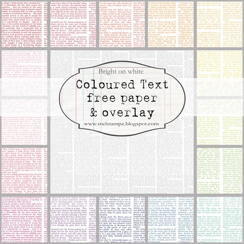PREVIEW bright TEXT paper mel stampz