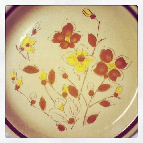 Pretty Japanese stoneware dinner plate