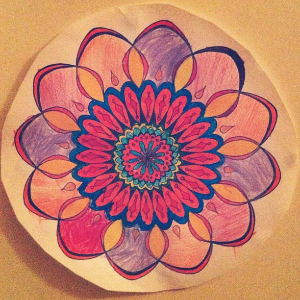 Spent some time colouring in with my 5yo. We like to colour. #colouring #mandala