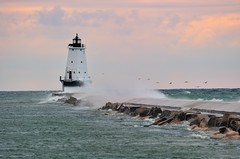 Ludington North Breakwater Lighthouse - Ludington,Michigan by Michigan Nut