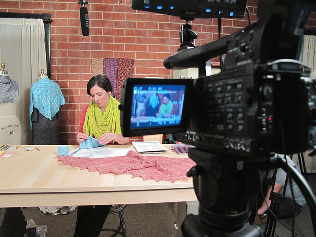 On Set at Craftsy!