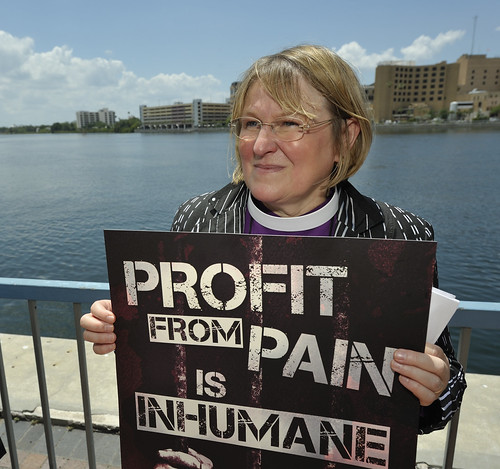 Rally against private prisons at 2012 United Methodist General Conference