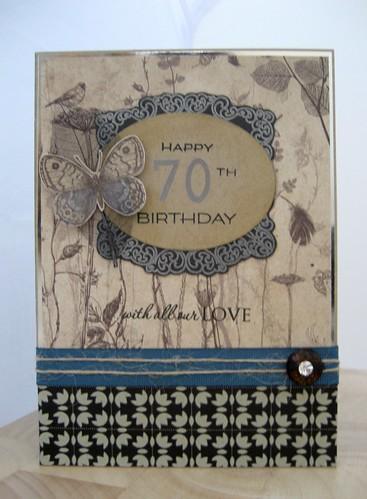Davids 70th Card