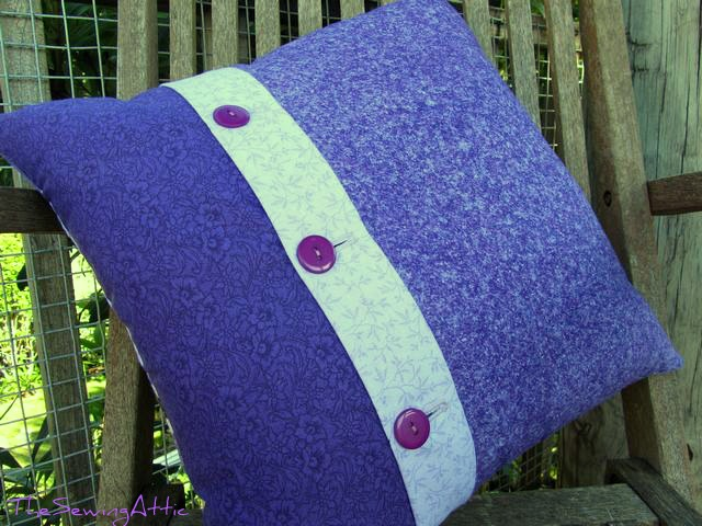 Back of purple bubble/circle cushion/pillow